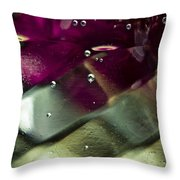 Bubbles 05 Throw Pillow by Grebo Gray