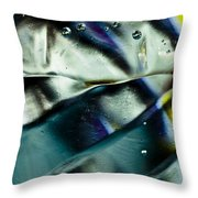 Bubbles 06 Throw Pillow by Grebo Gray