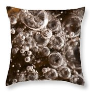 Bubbles Throw Pillow by Anne Gilbert