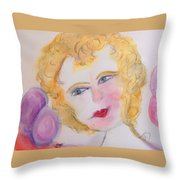 Bubbles At Her Party Throw Pillow