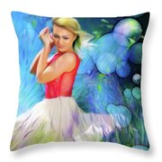 Bubbles In Field Throw Pillow