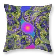 Bubbles In The Mist Throw Pillow
