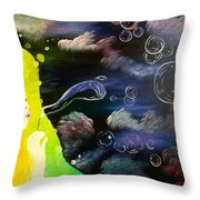 Bubbles Of Life Throw Pillow