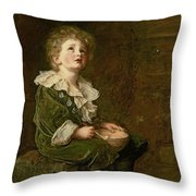 Bubbles Throw Pillow by Sir John Everett Millais