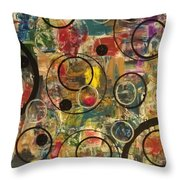 Bubbles Throw Pillow by Sonya Wilson