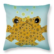 Bubbles The Fish Throw Pillow