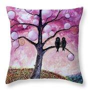 Bubbletree Throw Pillow