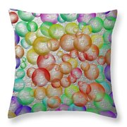 Bubbly Bubbles 2 Throw Pillow