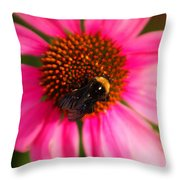 Bumble On A Pistil Throw Pillow