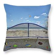 Buccaneer Beach Throw Pillow