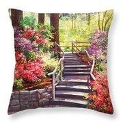 Buchart Garden Stairway Throw Pillow