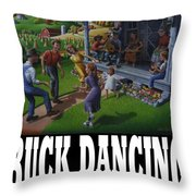 Buck Dancing T Shirt - Mountain Dancing - Porch Music Throw Pillow