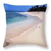 Buck Island Beach Throw Pillow