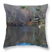 Buck Lodge Throw Pillow