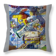 Buck Rogers And Animal Crackers Throw Pillow