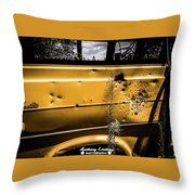 Buck Shot Old Van Throw Pillow