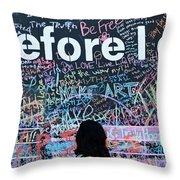 Bucket Wall Throw Pillow
