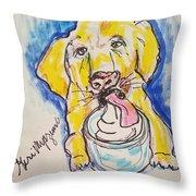 Buckett List For Dogs Throw Pillow