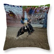 Bucking Bronco Throw Pillow