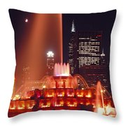 Buckingham Fountain In Chicago 2 Throw Pillow