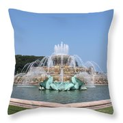 Buckingham Fountain Throw Pillow
