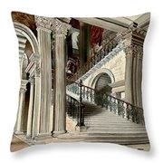 Buckingham House Stair Case Throw Pillow