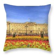 Buckingham Palace London Panorama Throw Pillow
