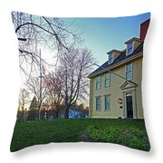 Buckman Tavern At Sunset Throw Pillow