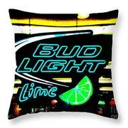 Bud Light Lime Tweeked Throw Pillow