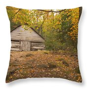 Bud Ogle Barn  Throw Pillow