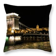 Chain Bridge And  Buda Castle  Throw Pillow