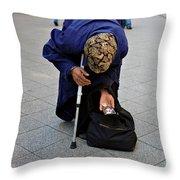 Budapest Beggar Throw Pillow
