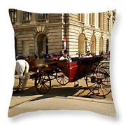 Vienna Buggy Man Throw Pillow