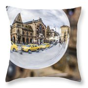 Budapest Globe - Great Market Hall Throw Pillow
