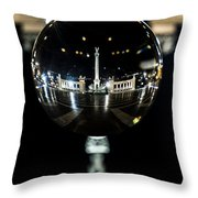 Budapest Globe - Heroes' Square Throw Pillow