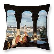 Budapest I Throw Pillow