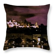 Budapest - Id 16236-105014-9910 Throw Pillow