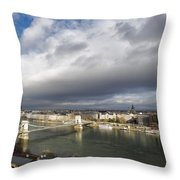 Budapest Panorama Throw Pillow
