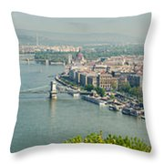 Budapest Panorama Photo Throw Pillow