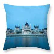 Budapest Parliament Building Throw Pillow