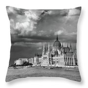 Budapest Parliament From The Chain Bridge Throw Pillow