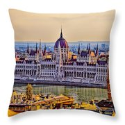 House Of The Nation Throw Pillow