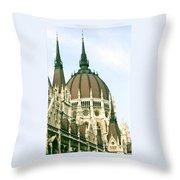Budapest Parliment Throw Pillow