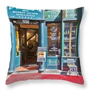 Budapest Storefront Throw Pillow