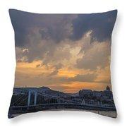 Budapest View Throw Pillow