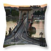 budapest 'X Throw Pillow