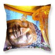 Budda Sleep Throw Pillow