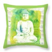 Buddha By Raphael Terra Throw Pillow