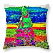 Buddha Dreaming Throw Pillow
