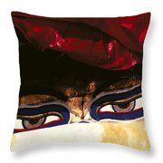 Buddha Eyes Throw Pillow